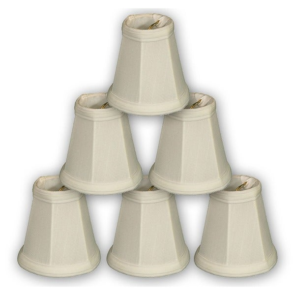 """Royal Designs White Empire Chandelier Lamp Shade, 2"""" x 3.5"""" x 3.5"""", Clip On-Set of 6"""