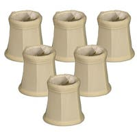 "Royal Designs Eggshell Empire Chandelier Lamp Shade, 3"" x 4.25"" x 4.25"", Clip On-Set of 6"