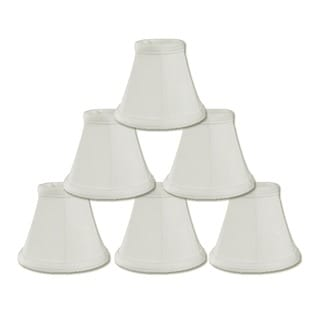 Royal Designs White Empire Chandelier 2.5 x 5 x 4.25-inch Clip-on Lamp Shade (Pack of 6)