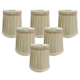 Royal Designs Eggshell 3.5-inch Pleated Empire Chandelier Lamp Shades (Set of 6)