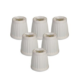 Royal Designs White 3.5-inch Pleated Empire Chandelier Lamp Shades (Pack of 6)