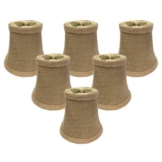 Royal Designs Burlap 5-inch Bell Chandelier Lamp Shades (Set of 6)