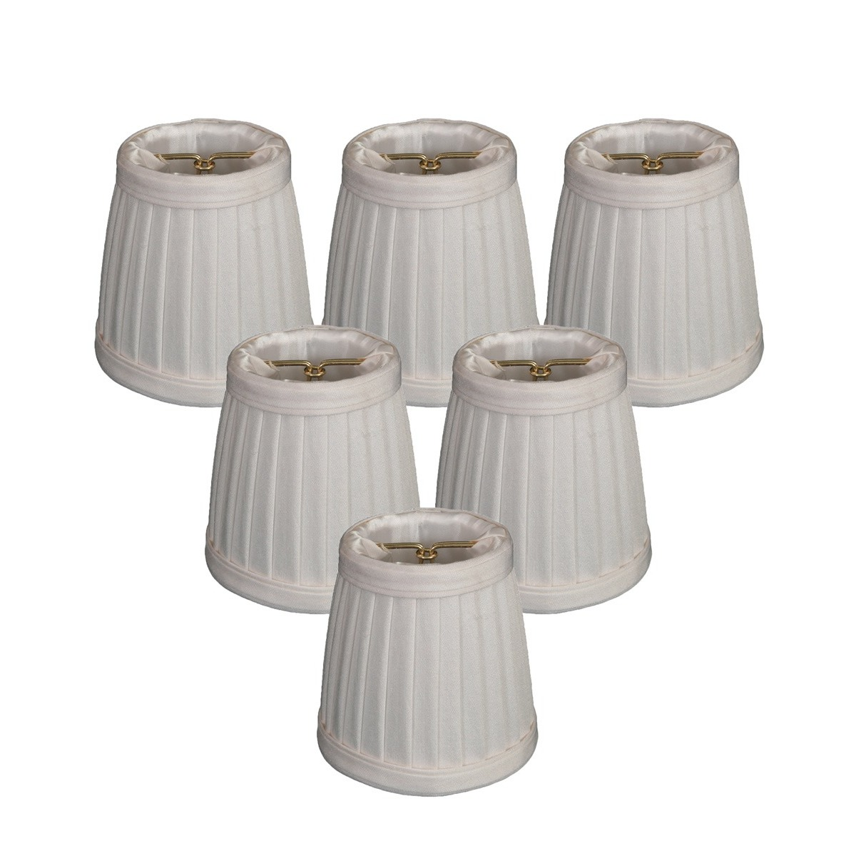 Royal Designs White Pleated Empire Chandelier Lamp Shade
