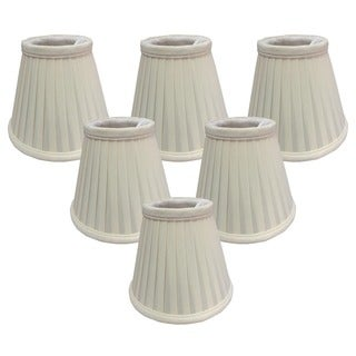 Royal Designs Eggshell 5-inch Pleated Empire Chandelier Lamp Shades (Set of 6)