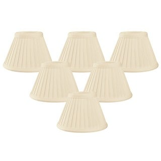 Royal Designs Eggshell 6-inch Pleated Empire Chandelier Lamp Shades (Pack of 6)