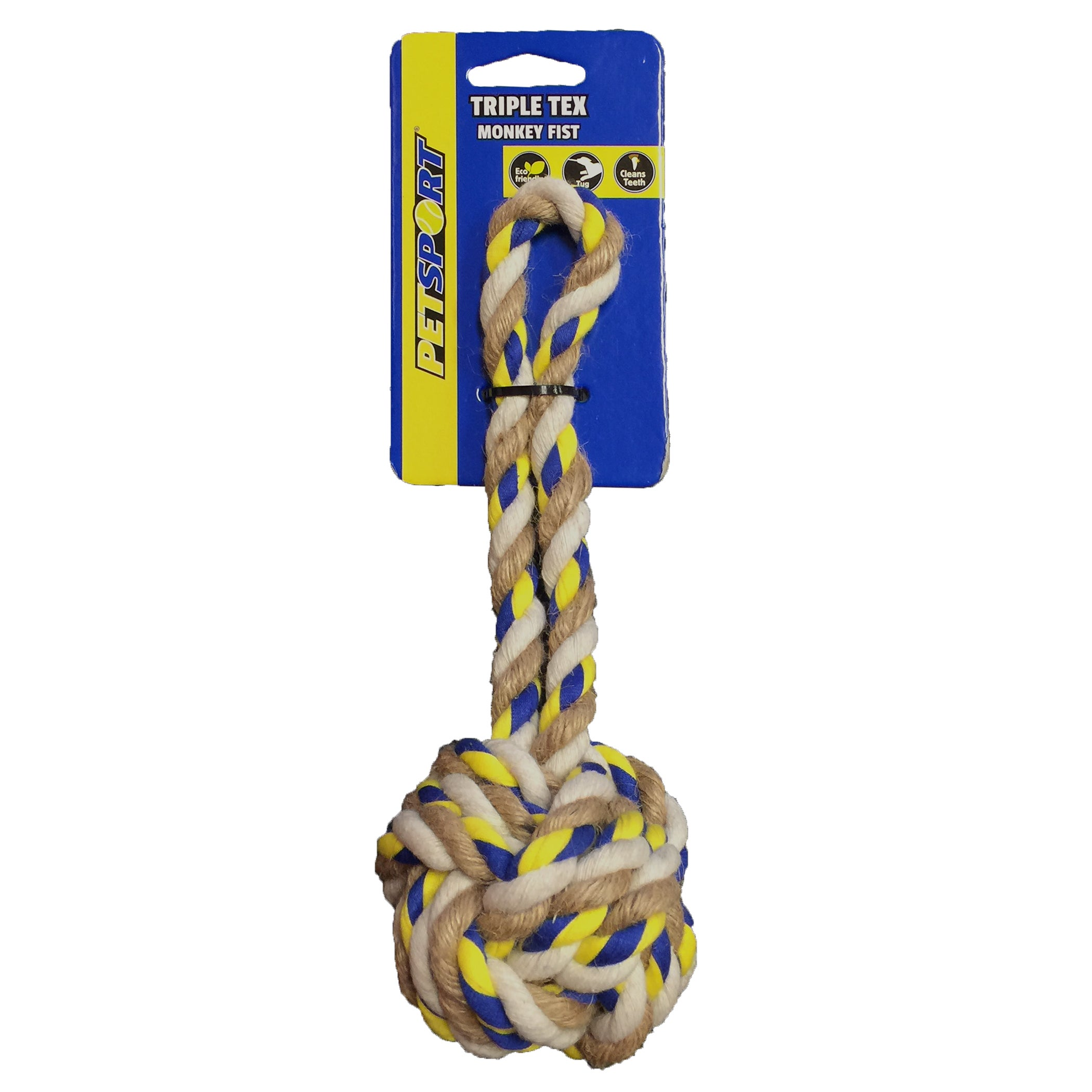 Petsport USA Petsport Tripple Tex Monkey Dog Toy (Triple ...