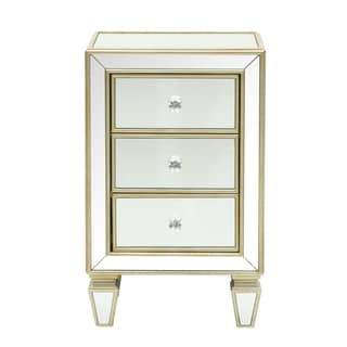 Glam Mirrored Accent Drawer Chest