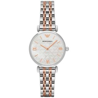 Emporio Armani Women's AR1987 Mother Of Pearl Dial Two-Tone Stainless Steel Bracelet Watch