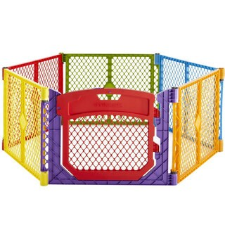 North States Superyard Colorplay Ultimate Freestanding 6 Panel Playpen Multi-Color