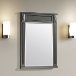 Azzuri Sterling 24 in. Mirror in French Gray finish