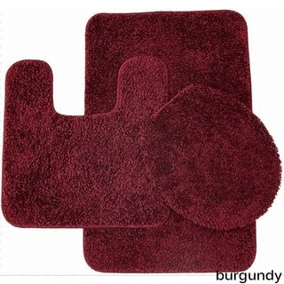 Florence 3 Piece Bathroom Rug and Toilet Seat Cover Set- Assorted Colors|https://ak1.ostkcdn.com/images/products/15053259/P21546600.jpg?impolicy=medium