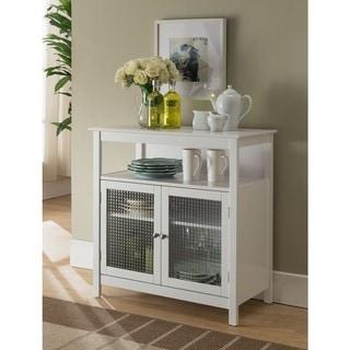 K and B Furniture Co White Wood Kitchen Storage Cabinet