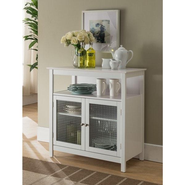 White Kitchen Cabinets For Sale: Shop K And B Furniture Co White Wood Kitchen Storage