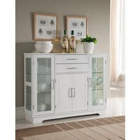 K and B Furniture Co. Inc. White Wood Kitchen Storage Cabinet
