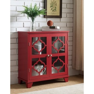 Copper Grove Lunaria Red Finish Wood Door Console Table