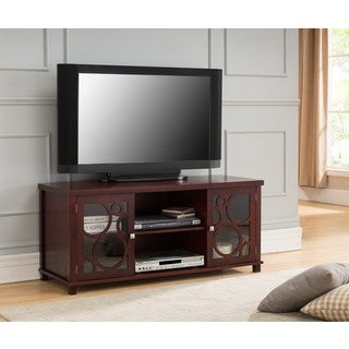 K and B Furniture Cherry Wood 48-inch Entertainment Center