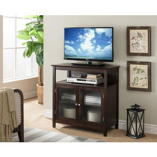 K and B Furniture Co Inc Walnut Wood 32-inch Entertainment Center