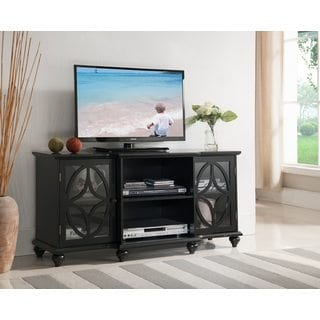 K and B Furniture Co Inc Black Wood 47-inch Entertainment Center