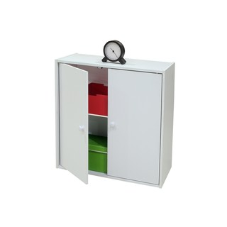 White Wood 2 Door Bookcase