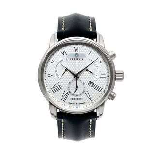 Graf Zeppelin Chronograph, Retrograde Watch with Beautiful Dial #7682-4