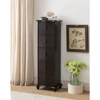 K and B Furniture Co Inc Dark Cherry Wood Accent Cabinet