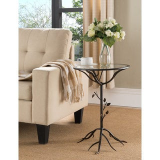 K and B Furniture Co Inc Brushed Goldtone Metal Side Table