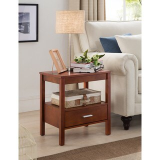 K and B Furniture Co Inc Walnut Wood Side End Table