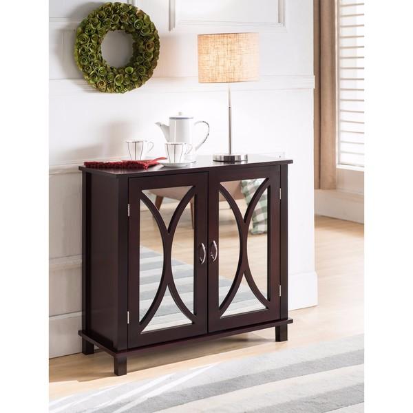 Shop K And B Furniture Co Inc Espresso Wood Door Console