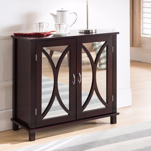K and B Furniture Co Inc Espresso Wood Door Console Table