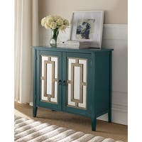 K and B Furniture Co Inc. Antique Blue Wood Door Console Table