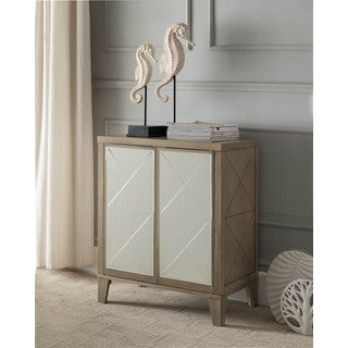 K and B Furniture Co Inc. Antique White Wood Door Console Table