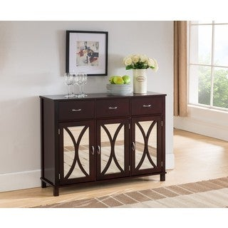K and B Furniture Co Inc. Espresso Wood Door and Drawer Console Table