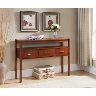 K and B Furniture Co Inc Walnut Wood Entryway Table