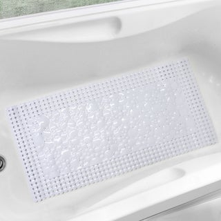 "Bubbles-N-Circles White or Clear Trim-Fit Tub Mat (20"" x 40"")"