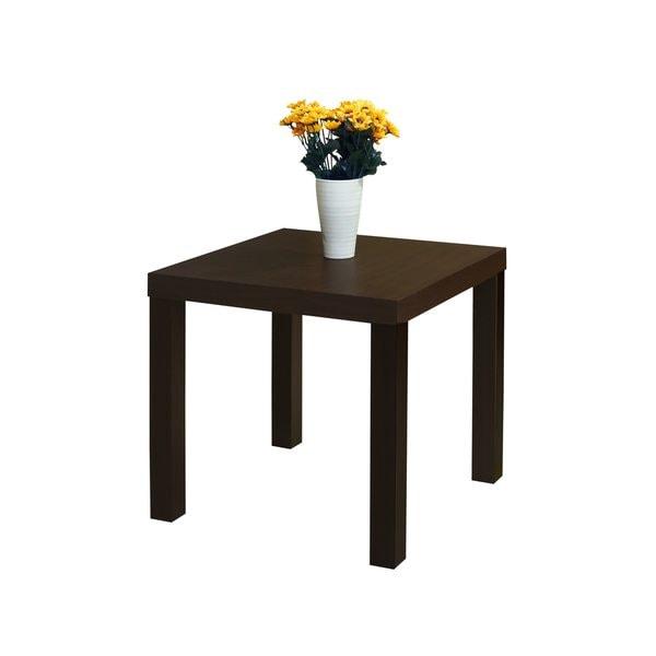 Dark Brown Wood End Table
