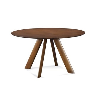 Saloom Eden 54-inch Round Maple Smooth Top Custom Dining Table in Walnut Finish