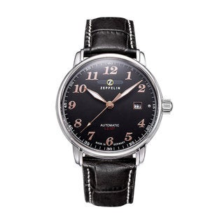 Graf Zeppelin Automatic, Date Watch with Black Dial #7656-2