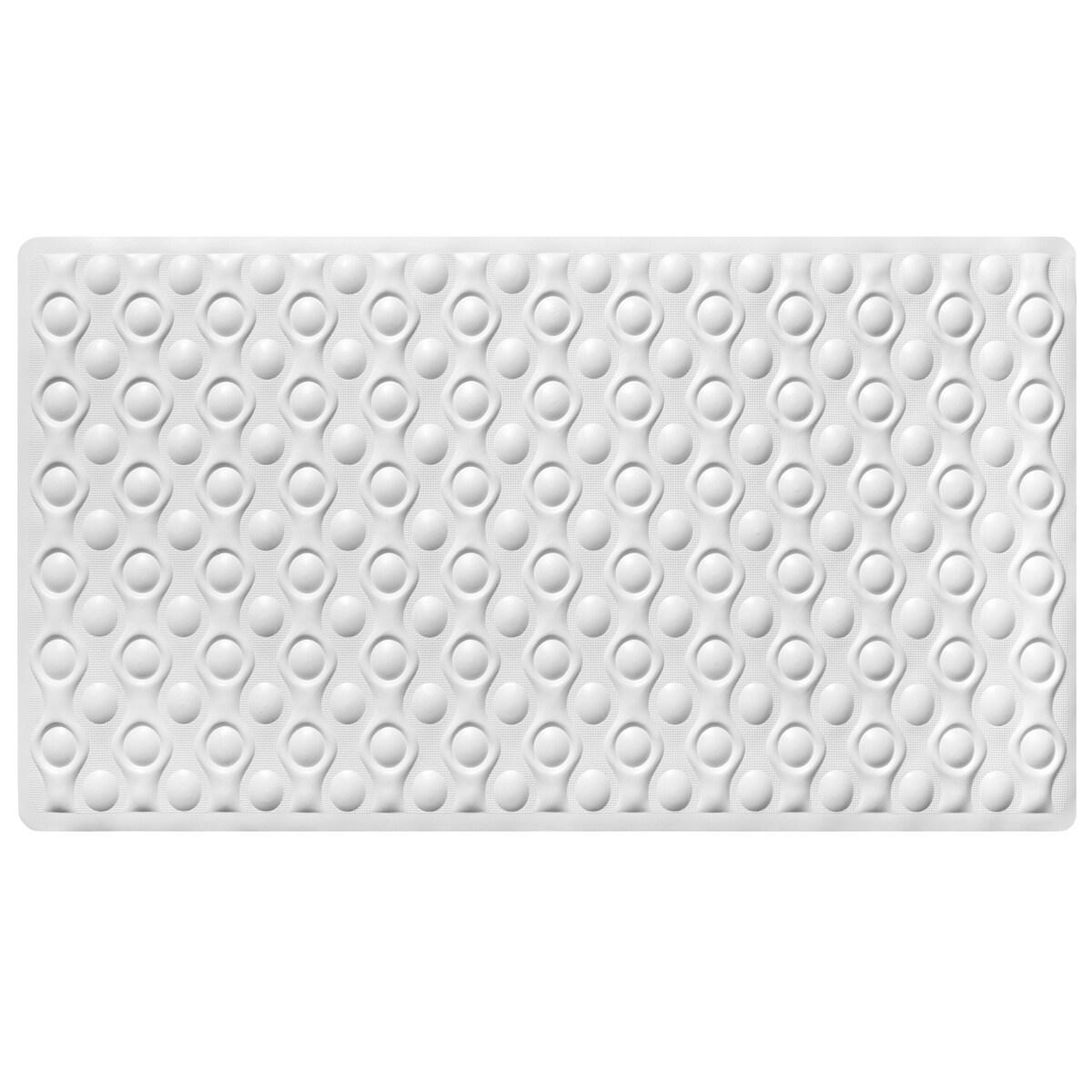 "Non-Slip Natural Rubber Beige or White Tub Mat (16"" x 28""..."
