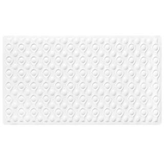 "Non-Slip Natural Rubber Beige or White Tub Mat (16"" x 28"")"