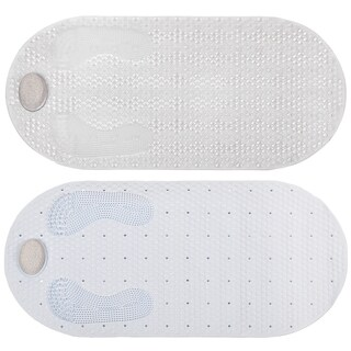 Pumice Stone Clear or White Tub Mat (16 x 32)
