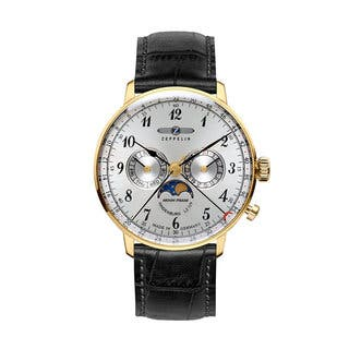 Graf Zeppelin Hindenburg Swiss Quartz Moonphase Calendar Watch #7038-1|https://ak1.ostkcdn.com/images/products/15053600/P21546691.jpg?impolicy=medium