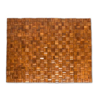 "Bamboo Bath Mat (18""x28"") Natural"