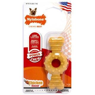 Nylabone Dura Chew Textured Ring Bone Dog Chew Chicken Extra Small
