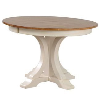 Iconic Furniture Company Caramel/Biscotti Round Art Deco-inspired Dining Table