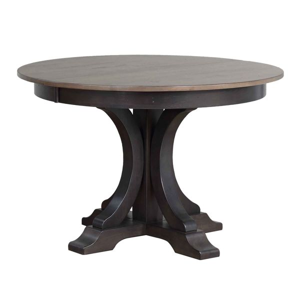 "Iconic Furniture Company 45""x45""x63"" Deco Grey Stone Black Stone Dining Table"