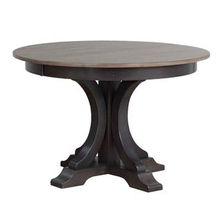 Iconic Furniture Company Wood Round Pedestal Dining Table