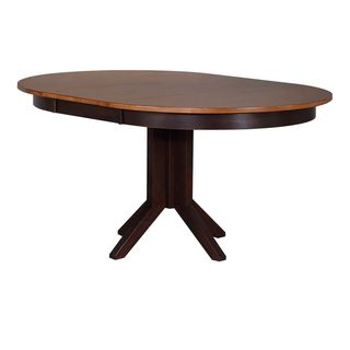 Iconic Furniture Company Whiskey/Mocha Round Contemporary Dining Table