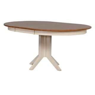 Iconic Furniture Caramel/Biscotti Round Contemporary Dining Table