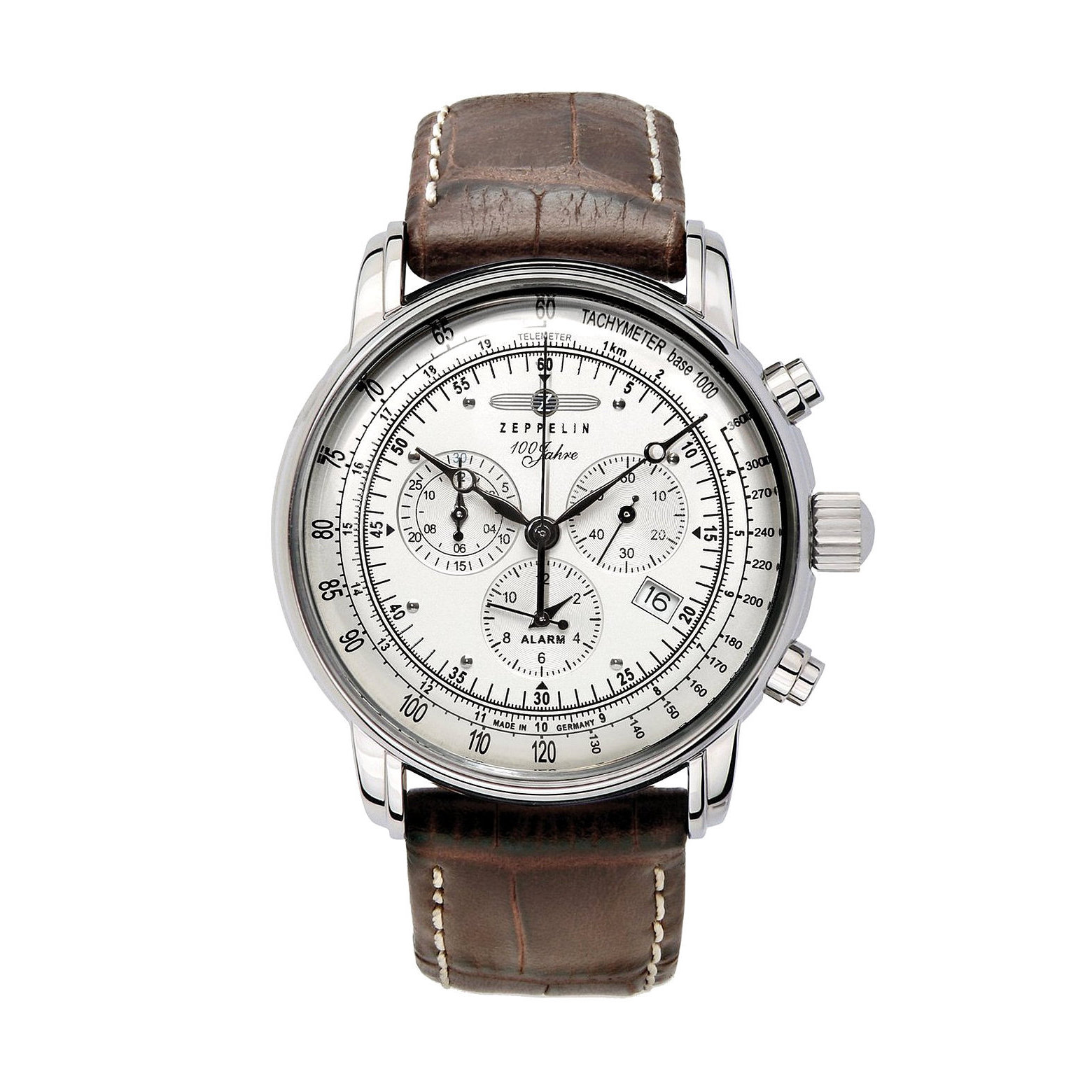 Graf Zeppelin Swiss Quartz Chronograph Watch (Stainless S...