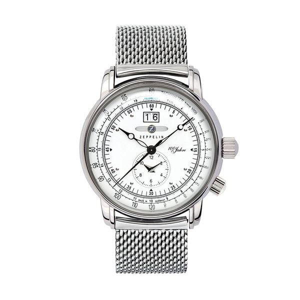 27171d34996 Shop Graf Zeppelin Dual-time Mesh Bracelet Watch - Free Shipping Today -  Overstock - 15053718